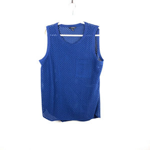 BANANA REPUBLIC BLUE SLEEVELESS SHIRT SIZE XL